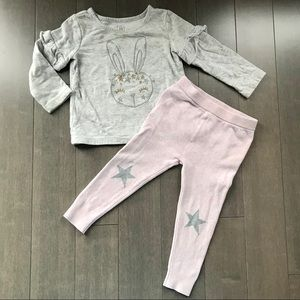 GAP top and sweater pants! Good condition!